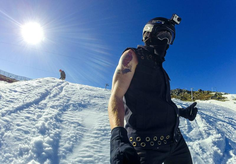 Snowboarder Shaun White is pictured wearing a GoPro camera. (GoPro.com)