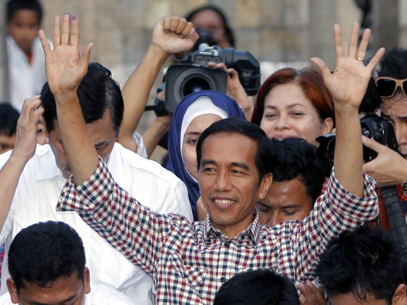 Indonesian presidential candidate Joko Widodo claimed victory on Wednesday.