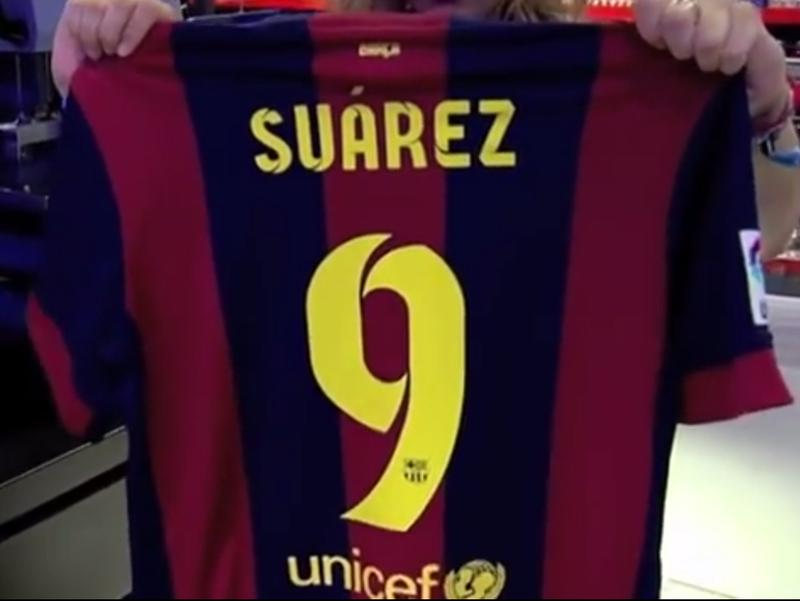 Luis Suarez will wear the number 9 for Barcelona.