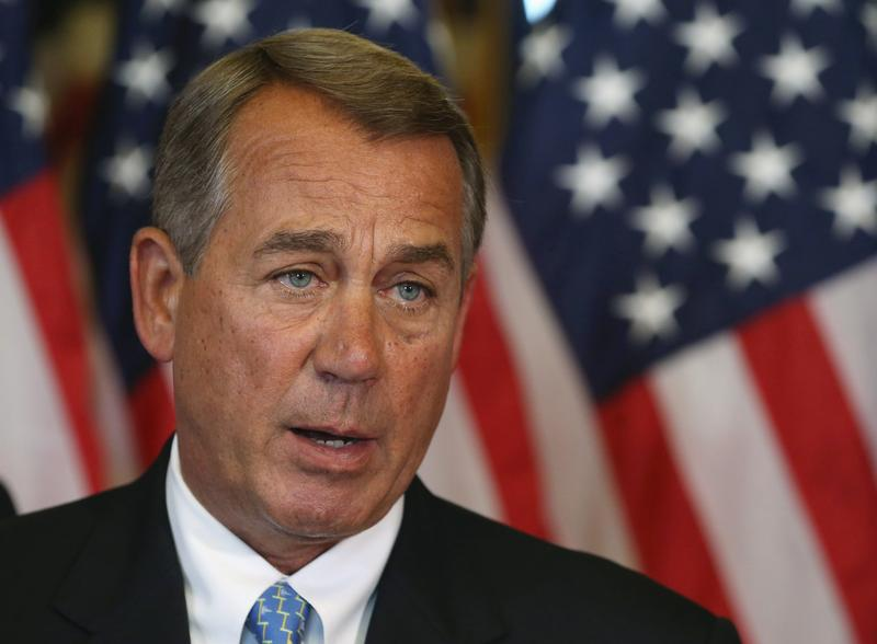 House Speaker John Boehner, pictured here on July 11, 2014, intends to sue the president over his last-minute changes to the health law. (Mark Wilson/Getty Images)