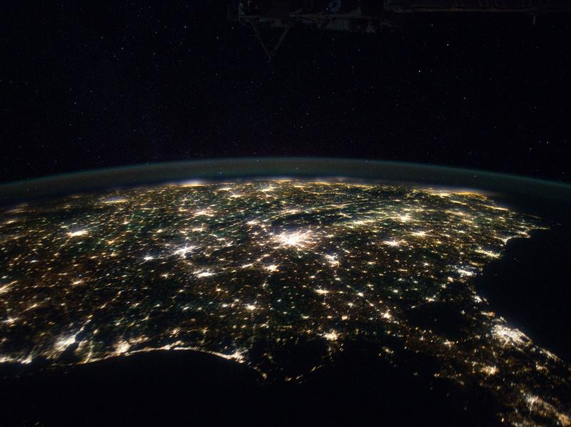 "Our planet is unique. When are we going to recognize and celebrate this fact? Above, the Southern United States as seen from the <a href=""http://earth.jsc.nasa.gov/scripts/sseop/photo.pl?mission=ISS030&roll=E&frame=55569"">International Space Station</a>."