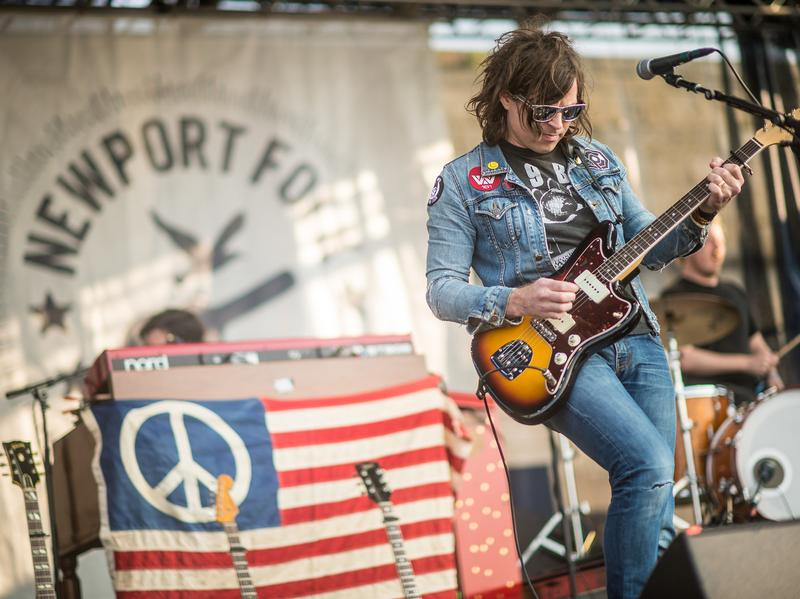 Ryan Adams performs at the 2014 Newport Folk Festival.