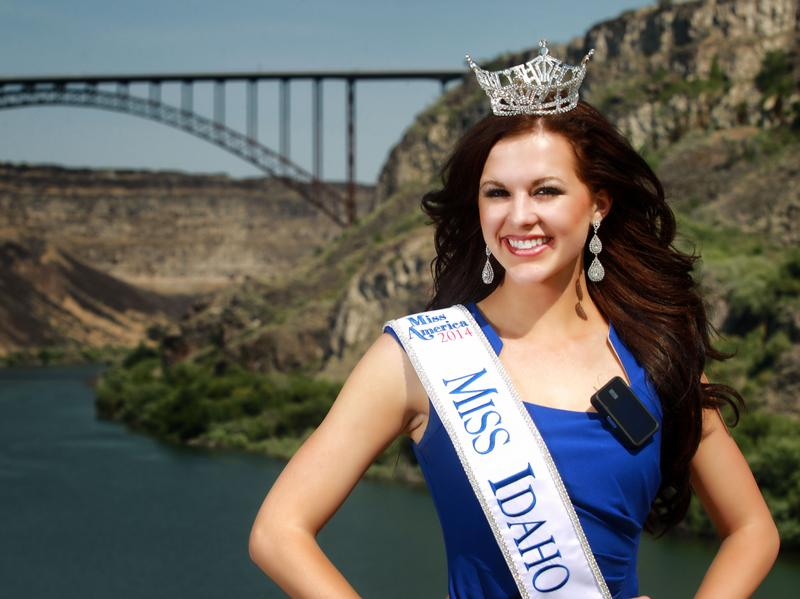 Miss Idaho Sierra Sandison, shown here in her home town of Twin Falls, Idaho, decided not to hide the insulin pump she wears to treat Type 1 diabetes during the pageant.
