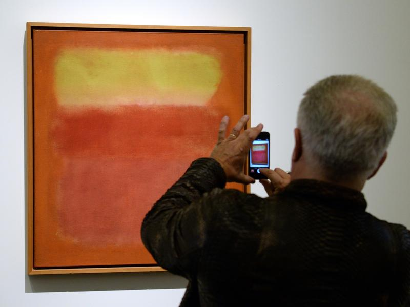 """Untitled"" by Mark Rothko, on display before auction at Sotheby's, New York, in May. Does its value stem from its pedigree? Or is it valuable because of its contribution to the ongoing dialog that is human expression through the ages?"