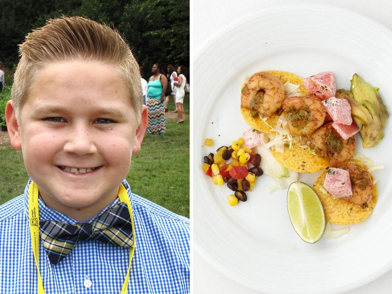 Cody Vasquez, 11, is from Arizona. His winning dish was shrimp tacos with watermelon jicama salad.