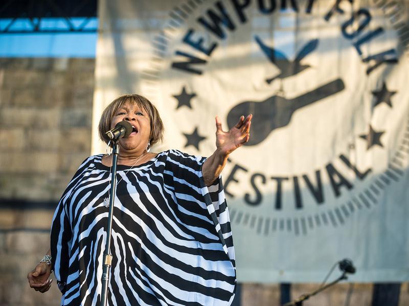Mavis Staples performs at the 2014 Newport Folk Festival.