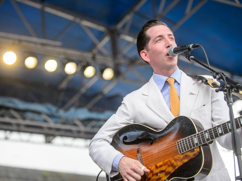 Pokey LaFarge performs at the 2014 Newport Folk Festival.