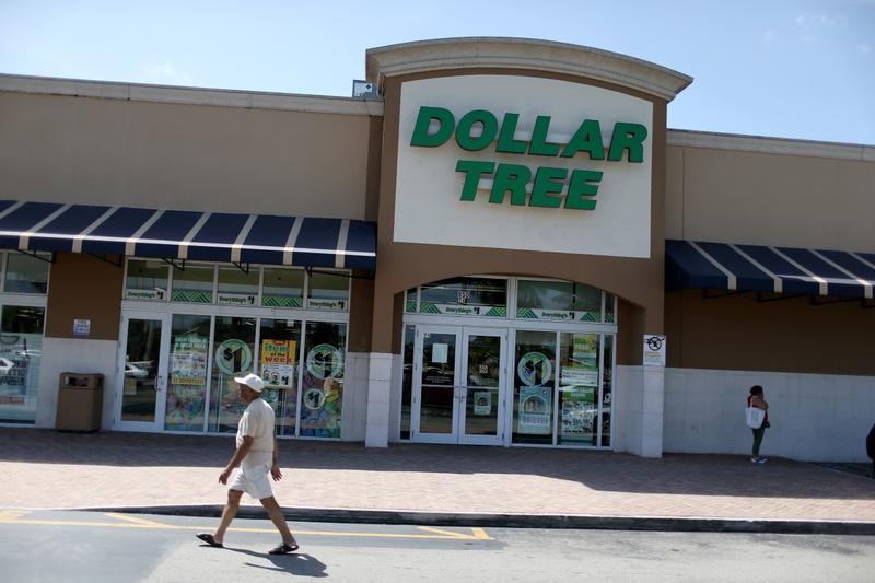A Dollar Tree store is seen on July 28, 2014 in Miami, Florida. Dollar Tree announced it will buy Family Dollar Stores for about $8.5 billion in cash and stock. (Joe Raedle/Getty Images)