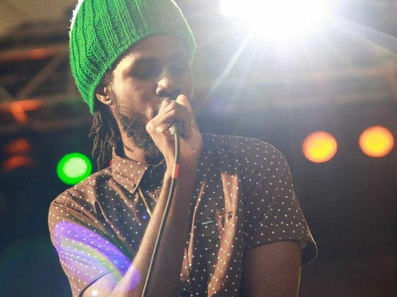 Chronixx onstage on Saturday at LargeUp's SummerStage event in New York City's Central Park.