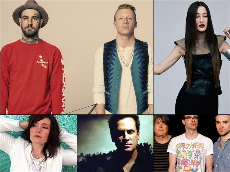 Clockwise from upper left: Fences (aka Christopher Mansfield) and Macklemore, Zola Jesus, Spider Bags, Sun Kil Moon, Frazey Ford