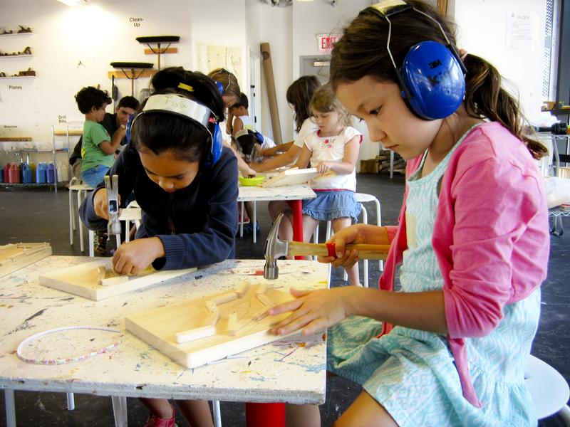The Construction Kids program in Brooklyn offers hands-on workshops throughout the year.