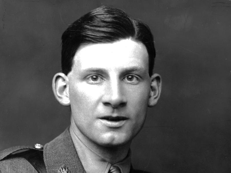 English poet and author Siegfried Sassoon (1886-1967) wearing his army uniform. His experiences in the First World War resulted in his hatred of war, which he expressed in much of his work.