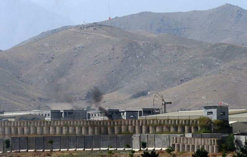 General view of a military academy base after an Afghan soldier opened fire on NATO troops inside the premises, on the outskirts of Kabul on August 5, 2014. (Wakil Kohsar/AFP/Getty Images)