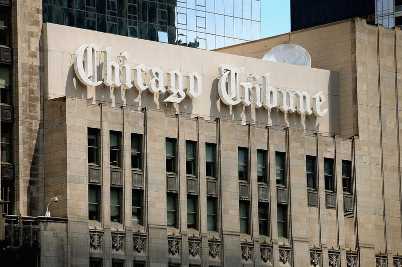 The Chicago Tribune is one of eight big newspapers being spun off into a new company called Tribune Publishing. (Scott Olson/Getty Images)