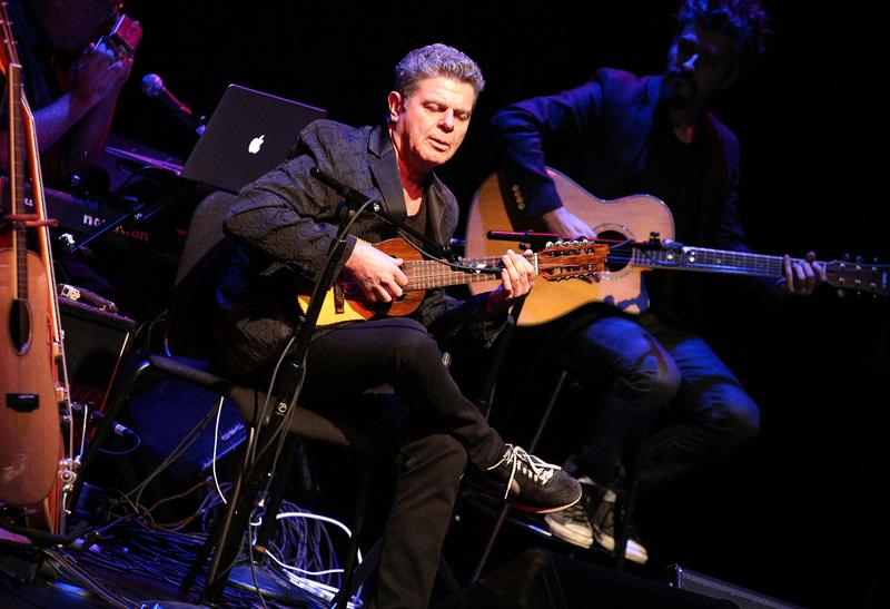 Soundtrack composer Gustavo Santaolalla performs onstage during The Last of Us: One Night Live reading and performance at The Broad Stage on July 28 in Santa Monica, California.  (Imeh Akpanudosen/Getty Images for Sony Computer Entertainment America)