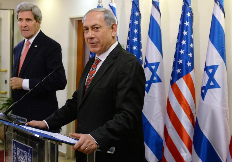 Israeli Prime Minister Benjamin Netanyahu holds a joint press conference with U.S. Secretary Of State John Kerry on December 5, 2013 in Jerusalem, Israel. (Kobi Gideon/Israeli Government Press Office)