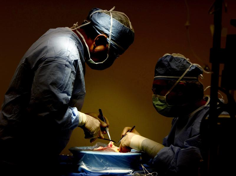 Surgeons at Methodist University Hospital in Memphis prepare to transplant a liver in 2010.