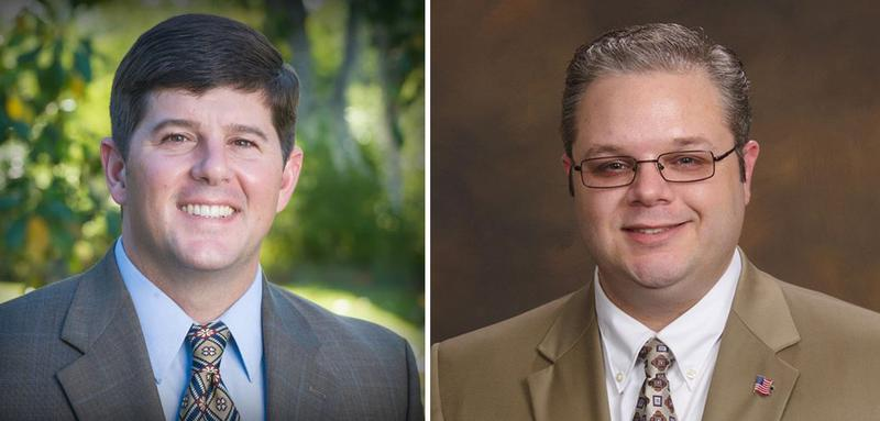 Republican U.S. Rep. Steven Palazzo (left) and Democrat Matt Moore are facing off in Mississippi's fourth congressional district. (Facebook)