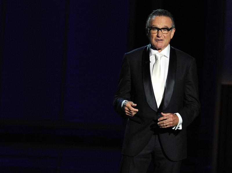 Robin Williams, seen here at the Emmy Awards in September 2013, died Monday at the age of 63.