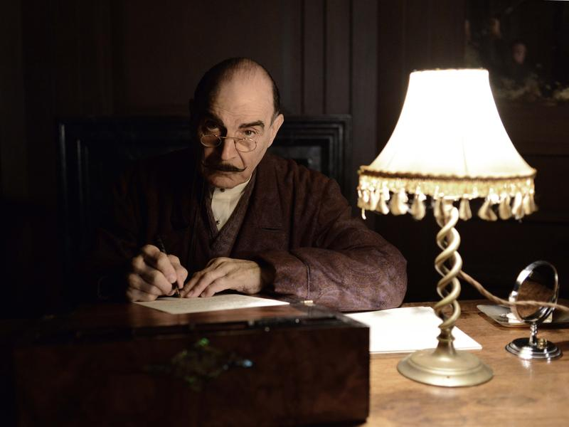 David Suchet plays Hercule Poirot in Agatha Christie's <em>Poirot. </em>The last season<em> </em>premiers Aug. 25 on Acorn TV.