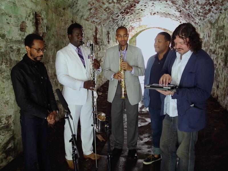 Brian Blade and the Fellowship Band. L-R: Blade, Myron Walden, Melvin Butler, Chris Thomas, Jon Cowherd.