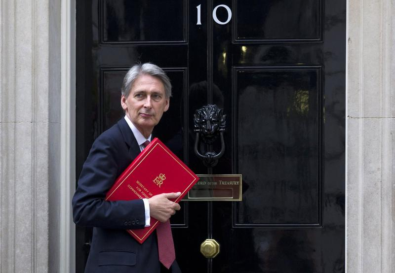 British Foreign Minister Philip Hammond arrives at Number 10 Downing Street in London on August 13, 2014 to attend a Cobra meeting on the situation in Iraq to be chaired by the prime minister. (Justin Tallis/AFP/Getty Images)