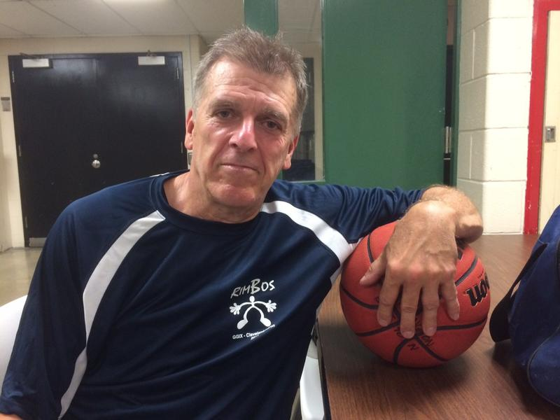 Twenty-four years after being diagnosed with HIV, Steve Harrington is still here -- a fact he attributes to medication and a love of basketball, which keeps him physically fit and mentally focused. (David C. Barnett/ideastream)