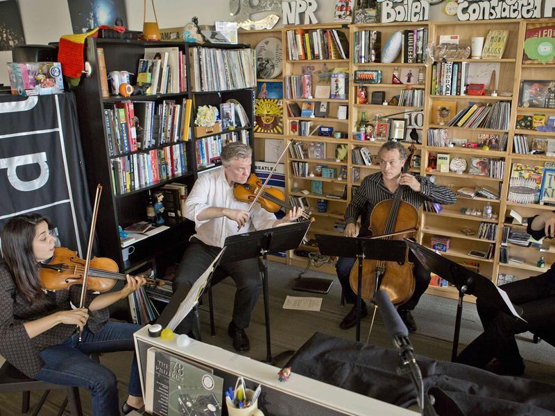 Pacifica Quartet performs a Tiny Desk Concert.