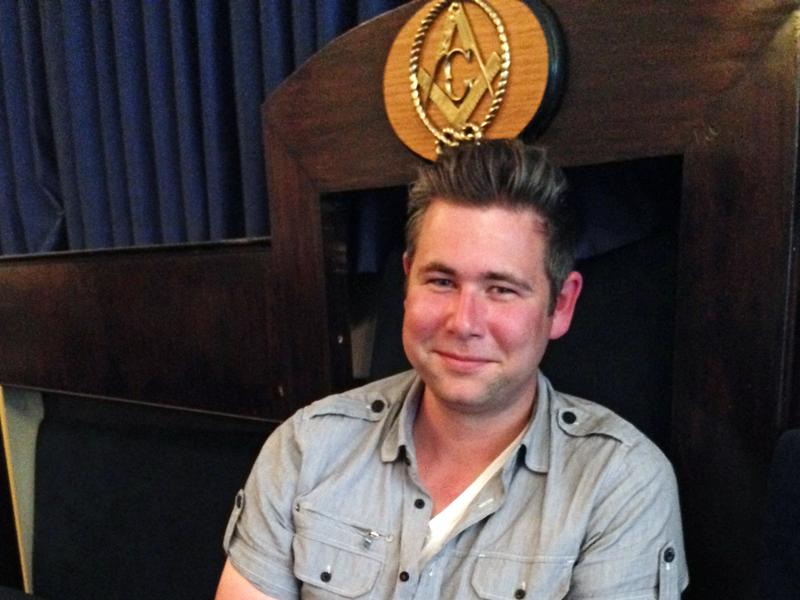 """Danny Done, 26, worshipful master of the Queen Anne Masonic Lodge in Seattle. The fraternity is """"a really interesting social network that's not online,"""" he says."""
