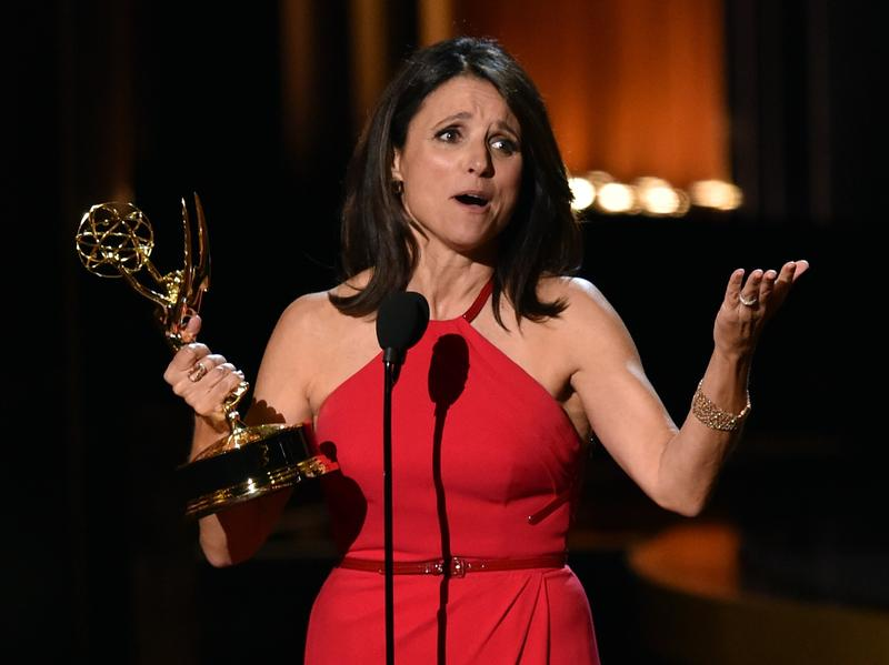 Julia Louis-Dreyfus won her third consecutive Emmy Award for Outstanding Lead Actress in a Comedy Series for HBO's <em>Veep</em>. It was a big night for people who had already won.