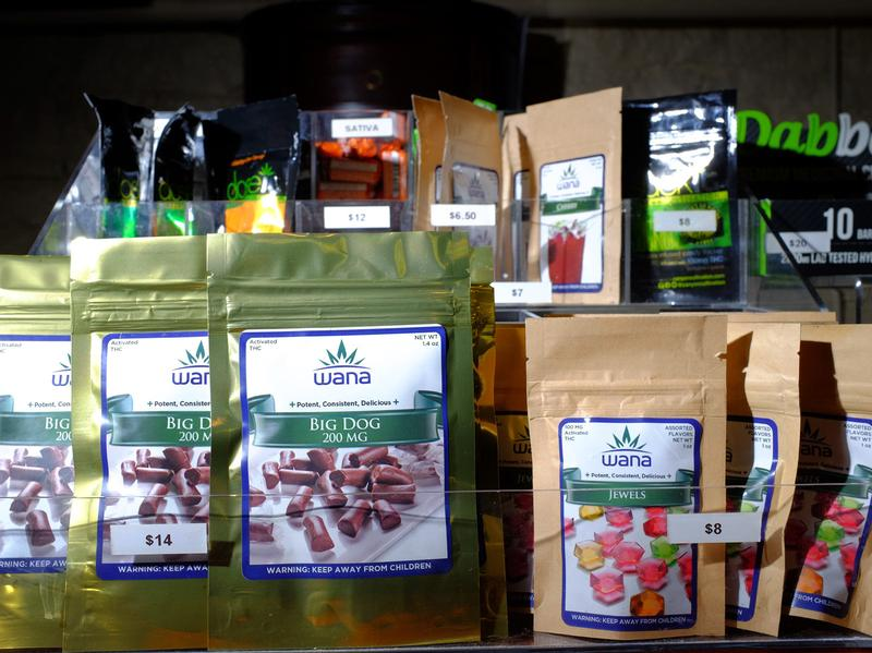 Edibles available at LoDo Wellness Center, a retail marijuana and medical marijuana dispensary and grow facility in downtown Denver.
