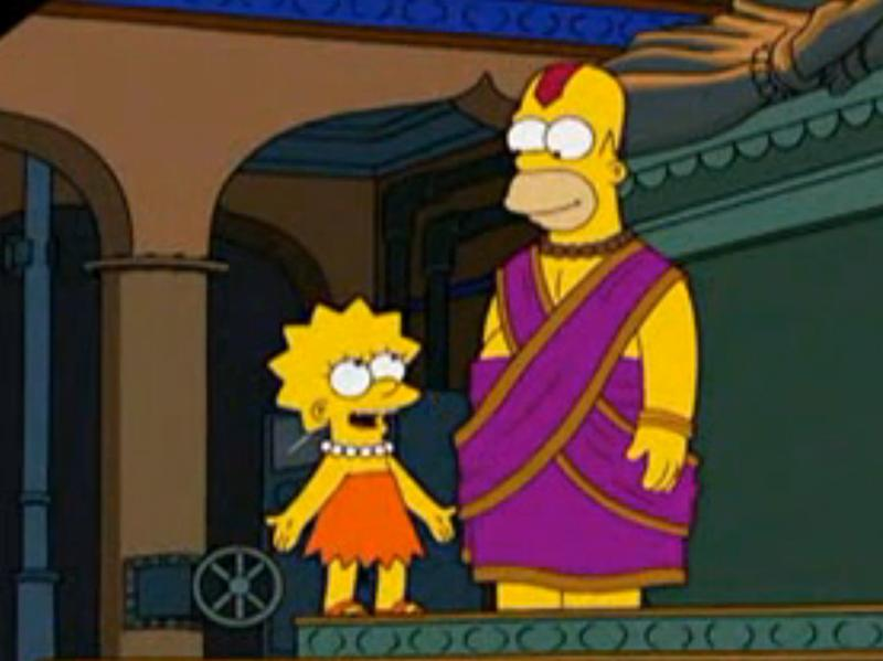 Homer thinks he is a god in the episode of <em>The Simpsons</em> set in Bangalore.
