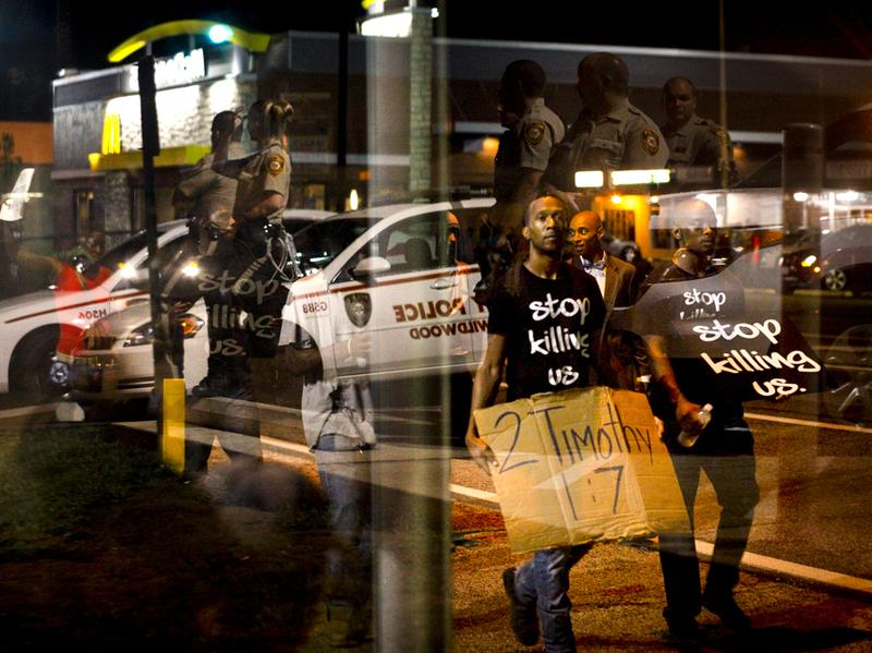 "Demonstrators last month chanted on West Florissant, one of the main boulevards in Ferguson, Mo. <a href=""http://ago.mo.gov/VehicleStops/2013/reports/161.pdf"">According to a state report</a>, nearly 9 in 10 people stopped by the police in 2013 were black."