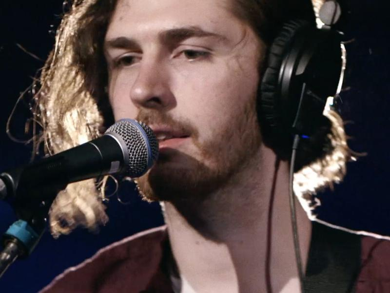 "Hozier, performing his new song ""Jackie and Wilson"""