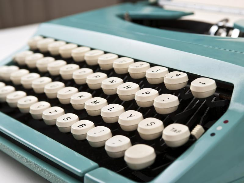 "Actor and typewriter aficionado Tom Hanks says typing on a typewriter ""is only a softer version of chiseling words into stone."""
