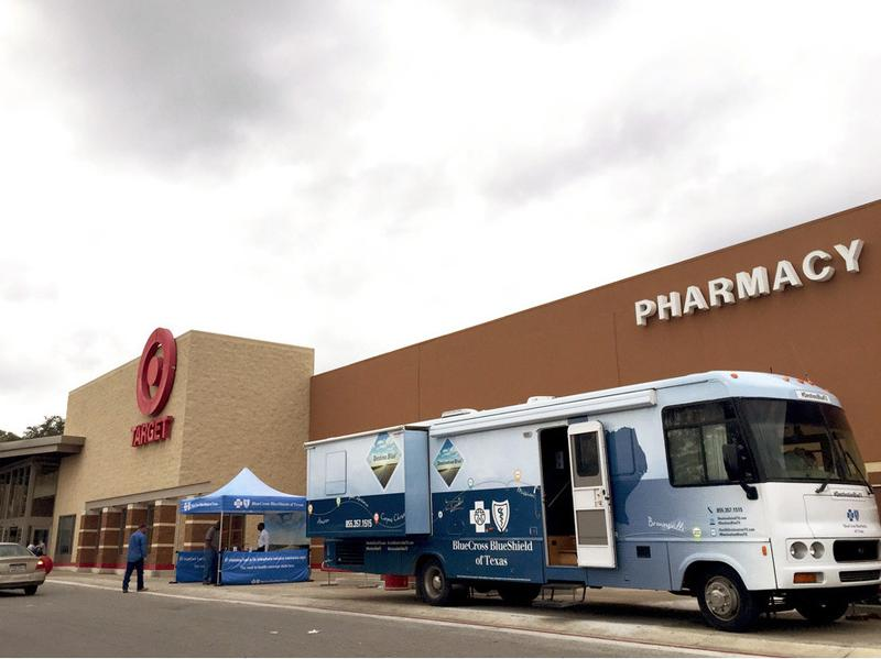 Blue Cross Blue Shield takes aim at Target — or, rather, at Target shoppers in San Antonio who might be interested in buying health insurance.
