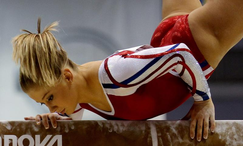 Shawn Johnson of the USA in action during the Women's Artistic Gymnastics at the Nissan Gymnastics Complex during Day Ten of the XVI Pan American Games on October 24, 2011 in Guadalajara, Mexico.  (Scott Heavey/Getty Images)