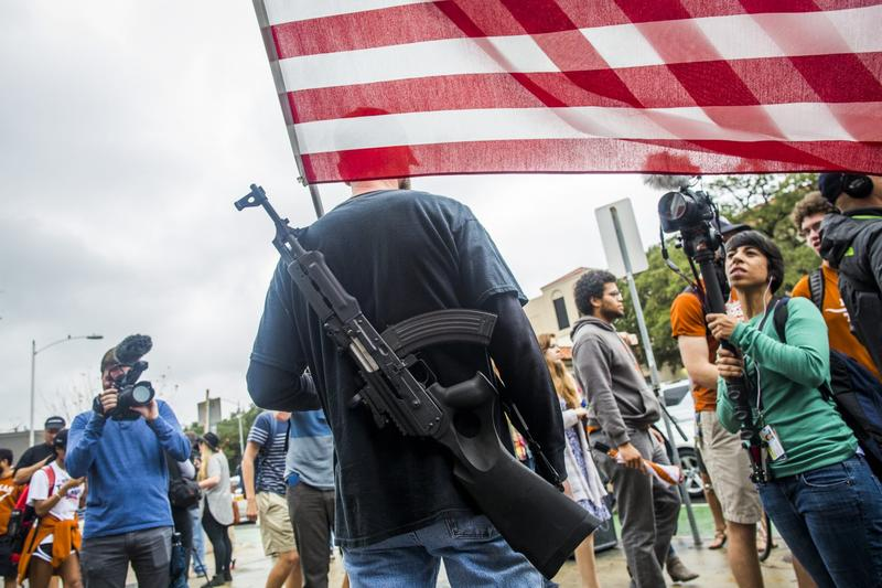 Gun activists march close to The University of Texas campus December 12, 2015 in Austin, Texas. (Drew Anthony Smith/Getty Images)