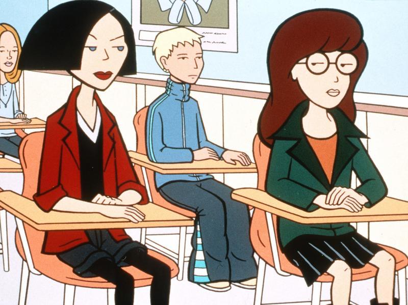 Jane Lane and Daria Morgendorffer from the MTV series <em>Daria.</em>