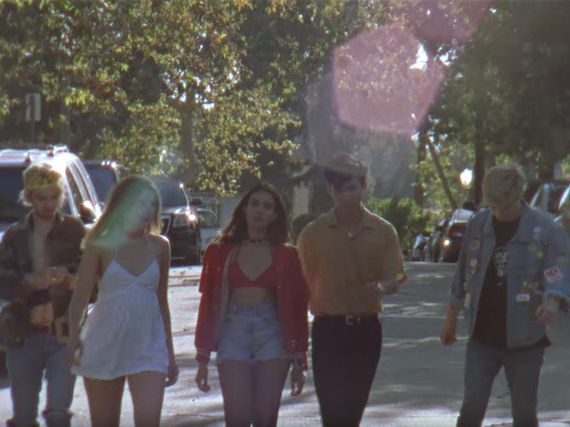 "A still from Beach Slang's ""Punks In A Disco Bar"" video."