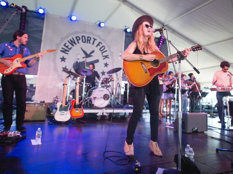Margo Price performs at the 2016 Newport Folk Festival.