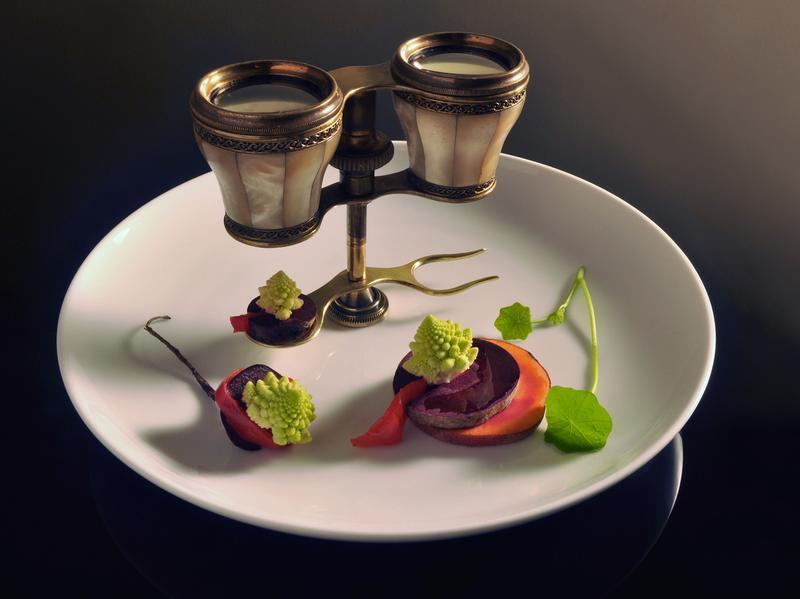 Opera binocs. Food by Chef John N. Novi.