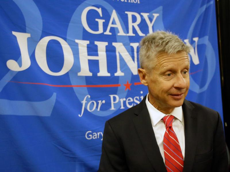Libertarian presidential candidate Gary Johnson needs to get to 15 percent in polls to make it onto the debate stage this fall.