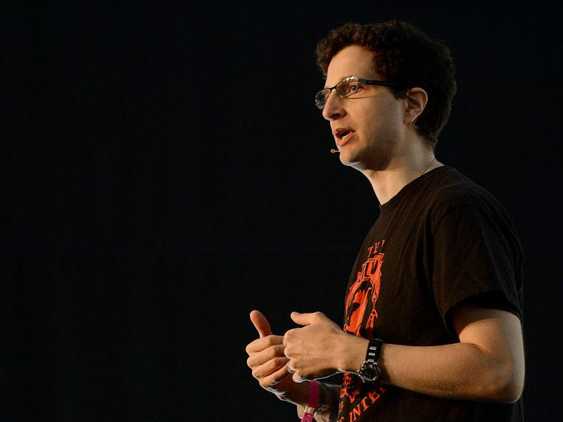 Jeff Moss, founder of BlackHat, speaks at the 2015 Tribeca Film Festival in New York City.