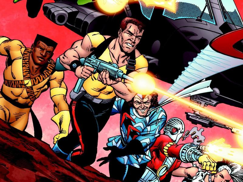Cover of the first trade collection of the 1980s comics series <em>Suicide Squad</em>.