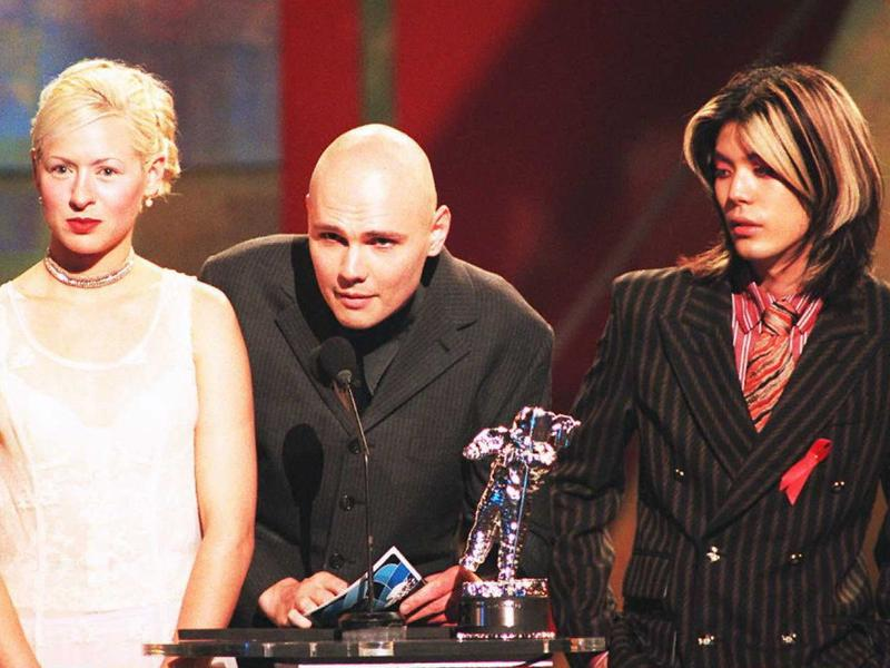 The Smashing Pumpkins in 1996, three years after their mainstream breakout with 1993's <em>Siamese Dream</em>.