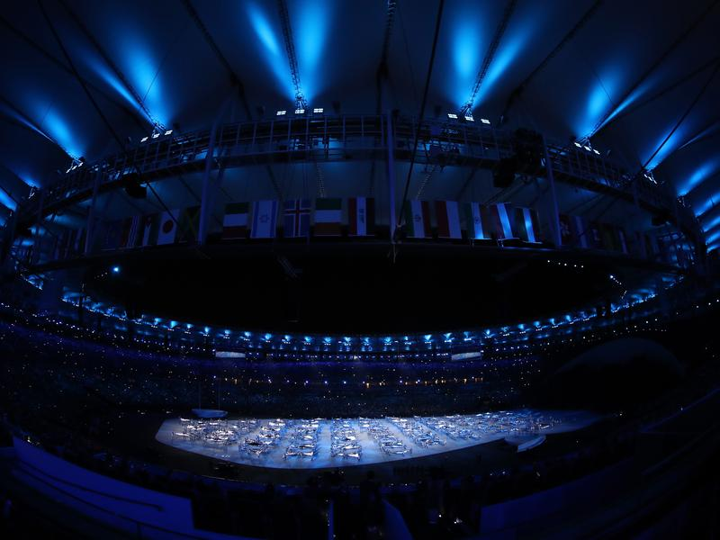 Dancers perform during the Opening Ceremony of the Rio 2016 Olympic Games at Maracana Stadium on Friday.