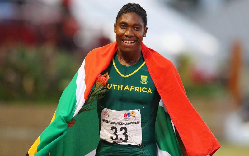 South Africa's Caster Semenya wins the 800m final for women during day five of the Confederation of African Athletics (CAA) Championships held in Durban on June 26, 2016. (Anesh Debiky/AFP/Getty Images)