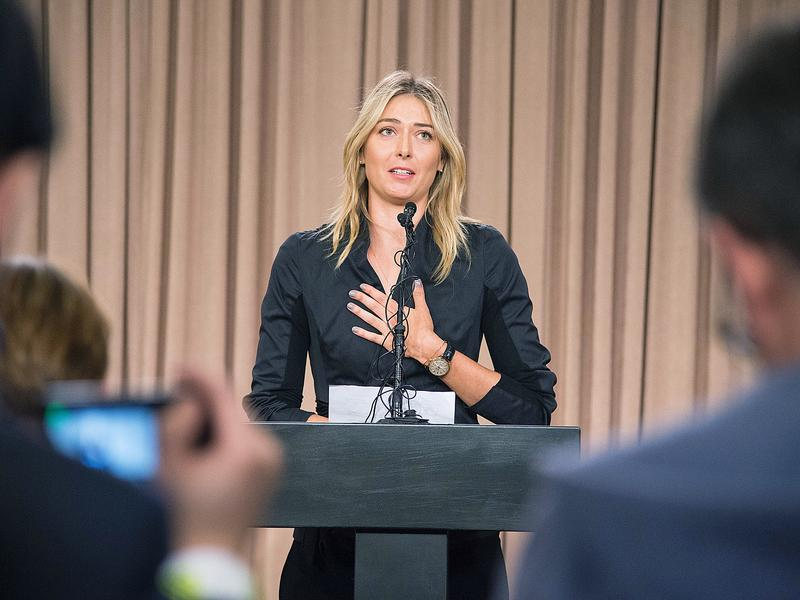 Russian tennis star Maria Sharapova isn't competing at the 2016 Olympics. At a March 7 press conference in Los Angeles, she told reporters she'd tested positive for meldonium, a prescription heart drug that improves blood flow. It was banned in January by the World Anti-Doping Agency.