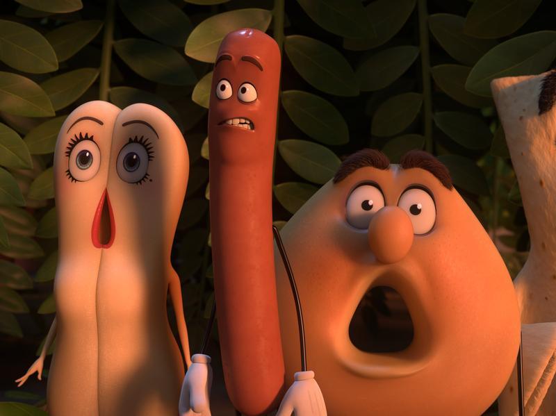 In <em>Sausage Party</em>, Kristen Wiig, Seth Rogen, Edward Norton and David Krumholtz voice various foodstuffs.